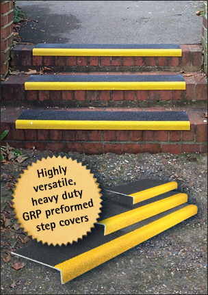 ANGLO ANTI-SLIP STEP COVERS - 1500x345mm